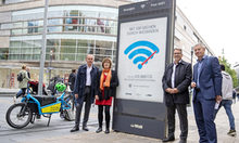 Free Wi-Fi with no time limit in Wiesbaden.