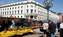 Market with flowers