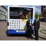 Jahr der Städtepartnerschaften - ESWE-Bus