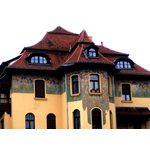 Dambachtal 20, Wiesbaden. Architekten: Werz & Huber (1901), Wandmalerei: Hans Christiansen