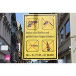 Schild Waffenverbotszone