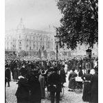 Volkskundgebung vor dem Nassauer Hof, 1918