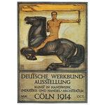 Bildnachweis: Peter Behrens: Plakat für die Deutsche Werkbundausstellung in Köln 1914 (Farblithografie)