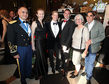 Ball des Sports 2014 / Oberst David Carstens, Garnisonskommandeur US Air Base Wiesbaden, Sven Gerich, mit seinem Mann Helge, Beatrice Dastis Schenk und Matthias Schenk, vom Schloss Freudenberg, vl.