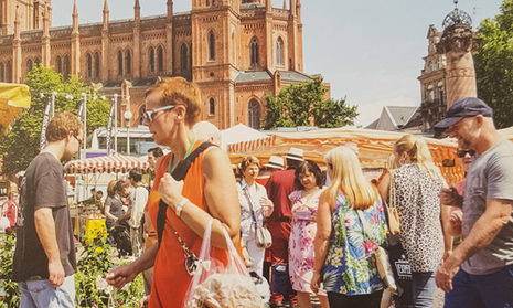 Market day in Wiesbaden.