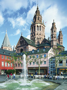 Cathedral of the state capital of Rhineland-Palatinate