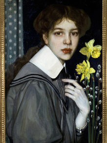 Oskar Zwintscher, Portrait of Yellow Daffodils, 1907. Collection F.W. Nees